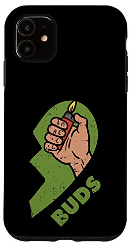 bud phone cases iPhone 11 Best Buds Weed Matching Couple Lighter Stoner Friends Case