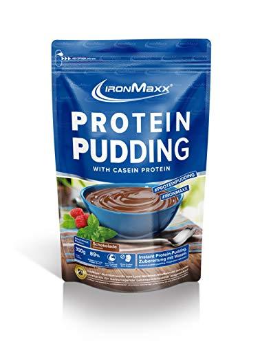 IronMaxx Protein Pudding mit 86% Eiweiß - Schokoladenpudding - 300g - 10 Portionen - Kohlenhydratarm - Fettarm - Zubereitung ohne Milch - Proteinreiche Snack-Alternative - Designed in Germany