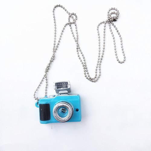guodong Punk Flash Kamera Halsketten Musik Anhänger Leuchtende Halskette Retro Kleine Kamera Halskette Blitz Männer Und Frauen SLR