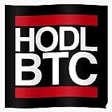 Crypto Bitcoin Currency Hold Hodl Btc Impresionantes carteles para la decoración de la habitación impresos con la última tecnología moderna sobre papel semibrillante