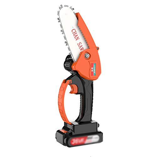 IRi Mini Chainsaw, Pruning Shears Chainsaw with 2Pcs Batteries and 1Pcs Chain, 14-Inch Cordless Electric Protable Chainsaw, One-Hand Lightweight, for Tree Branch Wood Cutting