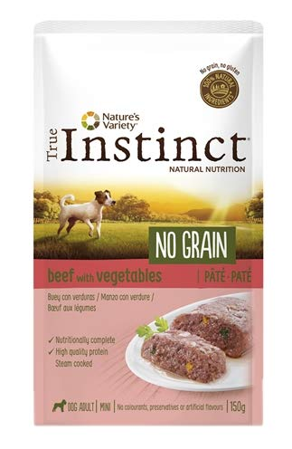 True Instinct - Comida húmeda para Perros Adultos minis no Grain paté Buey con Verduras 150 gr