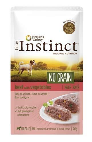 True Instinct - Cibo umido per cani adulti Minis No Grain paté bue con verdure 150 g