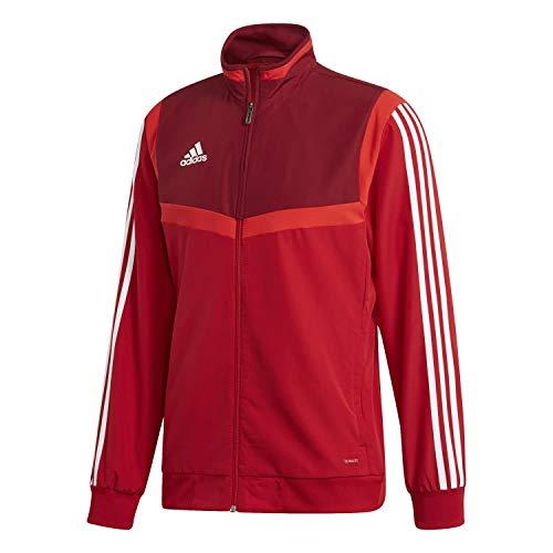 adidas TIRO19 PRE JKT Chaqueta de Deporte, Hombre, Power Red Collegiate Burgundy White, 2XL