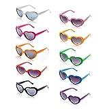Onnea 10 Pezzi Set Occhiali da Sole da Party Forma di Cuore Colori al Neon Solo per Bambini (10 Pacchi Multicolore)