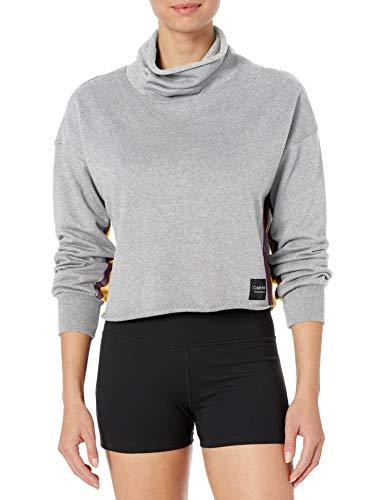 Calvin Klein Women's Blouson Sleeve Funnel Neck Pullover, Rainforest, X-Large