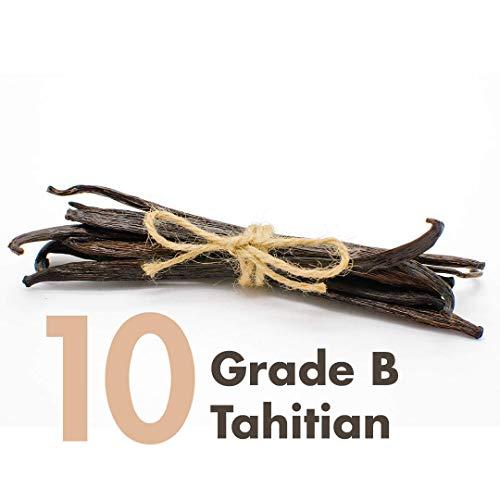 Baccelli di vaniglia (tahitiani), grado B, interi, estratto: da 10 a 15 cm, per estrazione, cottura, caffè, infusione, cottura (10 cialde)