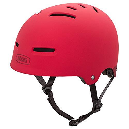 Nutcase - Zone, Fahrradhelm für Jugendliche und Erwachsene, Red Matte, Mittel
