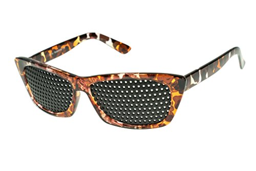 Rasterbrille 415-FMG - ganzflächiges Raster - braun marmoriert