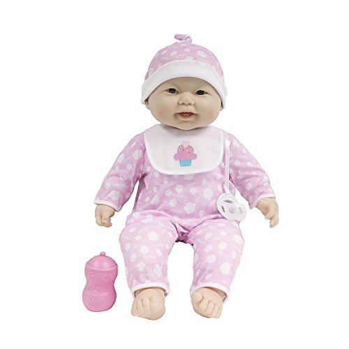 """JC Toys Soft and Cuddly 20"""" Soft and Huggable Baby Doll Play Set Lots to Cuddle Babies 