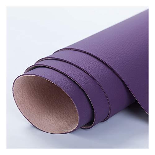 Polipiel para Tapizar Tela de Cuero Sintético de Tapicería en el Medidor Imitación de CueroCuero de imitación Tela Cuero sintético Vinilo Paño de cuero Material de tela 138cm-Púrpura 1.38x18m