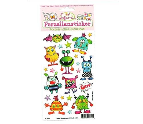 Porzellansticker Monsterdekor, Sticker ohne Brennen, Tassen, Kindergeburtstag