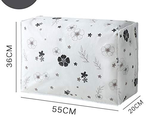 YAOUYYYSN - Bolsa de almacenamiento de colchas, antimoho, impermeable, bolsa de clasificación para embalaje, equipaje, bolsa para el polvo, hojas móviles, diseño de flor negra, 55 x 20 x 36 cm