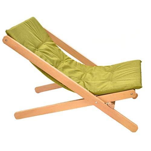 smzzz Schreibwaren Bürobedarf Massivholz Liege Büro Mittagessen Pause Stuhl Lazy Rückenlehne Stuhl Home Balkon Freizeit Sessel Tragbare Klapp