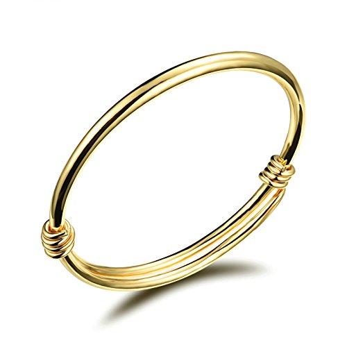Aooaz Kupfer Manschette Armbänder Für Herren Damen Thin Wire Expendable Gold 12CM