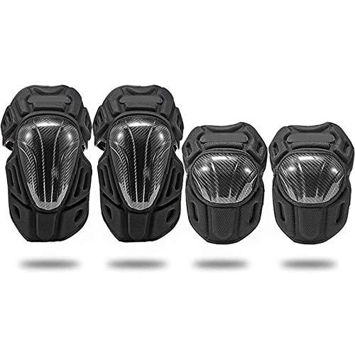 Adesign Conjuntos de Equipo de Protección de Codo Rodilleras MTB Adulto Transpirable Rodilla Largo espinillera for Bicicletas de Carreras de Motocross Patín