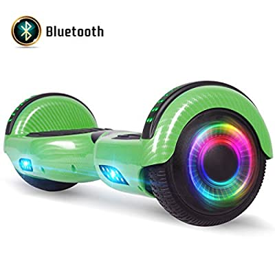 """FLYING-ANT Self Balancing Hoverboard 6.5"""" UL2272 Certified with Speaker and LED Lights Red"""