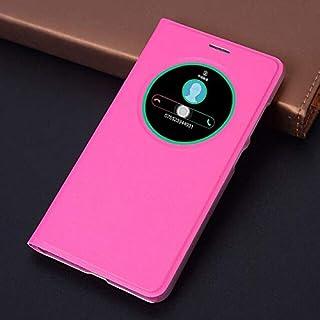 Flip Cases - Flip Cover Smart View Leather Phone Case For Zenfone 3 ZE520KL ZE552KL ZE 520KL 552KL 520 552 KL (Rose red ze...