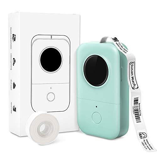 Phomemo D30 Etikettendrucker Aufklebermaschine - 1 klick Druck Thermoetikettendrucker Tragbarer, Vorgeschnittener Etikettenaufkleber, Kompatibel mit iOS Android für Unternehmen Zuhause Büro, Grün