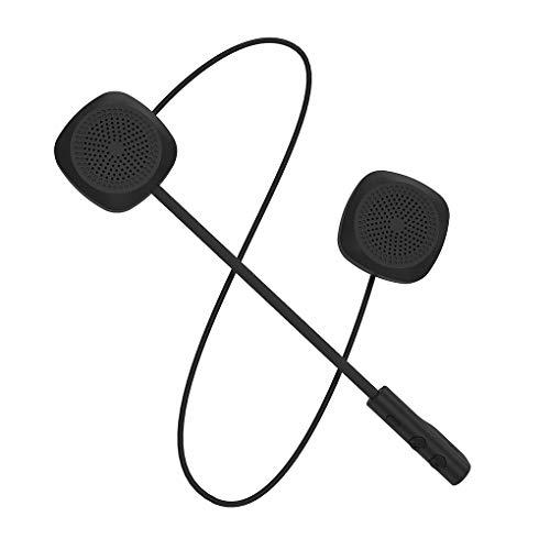 Guangcailun Casco de la Motocicleta de Bluetooth 5.0 Auricular inalámbrico de Manos Libres música de los Auriculares del Auricular del Motor