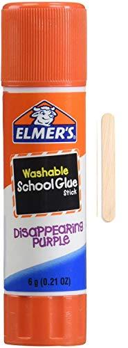 Elmer\'s Barra de pegamento escolar, 6 g con palo pop