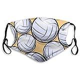 AYISTELU Volleyballball Grafik Illustration,Staubdichter, waschbarer und wiederverwendbarer Filter mit Filter