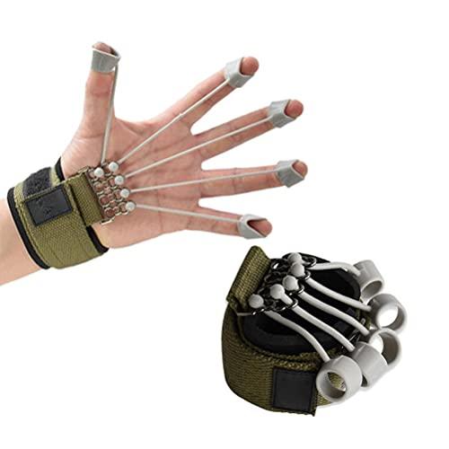 Roexboz Dispositivo de entrenamiento de flexión y extensión de dedos, para terapia de rehabilitación de manos, adecuado para entrenamiento de rehabilitación, ejercicios de fitness