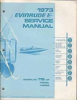 1973 EVINRUDE OUTBOARD STARFLITE 115 HP SERVICE MANUAL