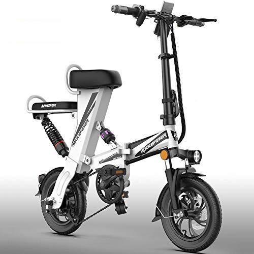 Bicicleta eléctrica Ruedas de 12 pulgadas Ligero Plegable Portátil Aleación de aluminio...