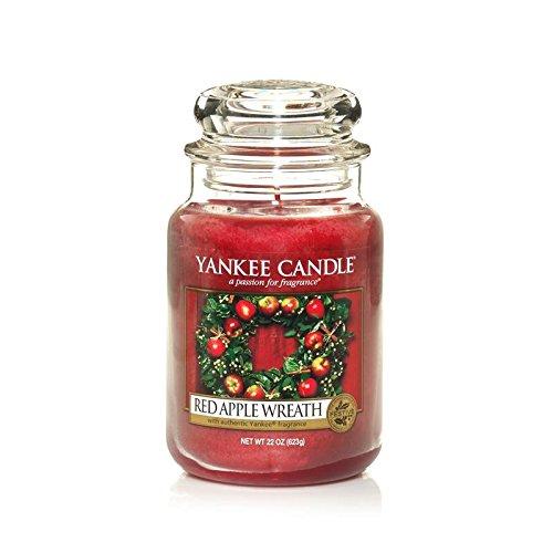 Yankee Candle Duftkerze im Glas, Roter Apfelduft, groß, Einzelpackung