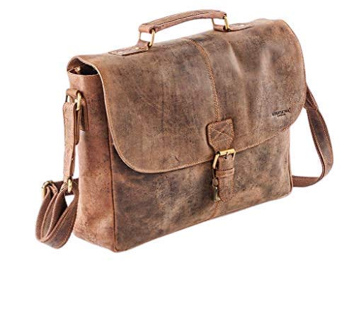 Affliggere Venator Pelle Collezione, Uomo, Mezza Pattina Messenger/Laptop Bag UM40