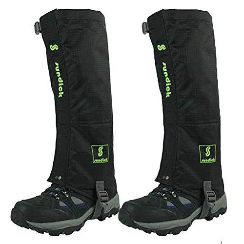 Tentock 1 Paar Gamaschen Wasserdicht Atmungsaktiv Schneegamaschen für Bergsteigen Trekking(schwarz)
