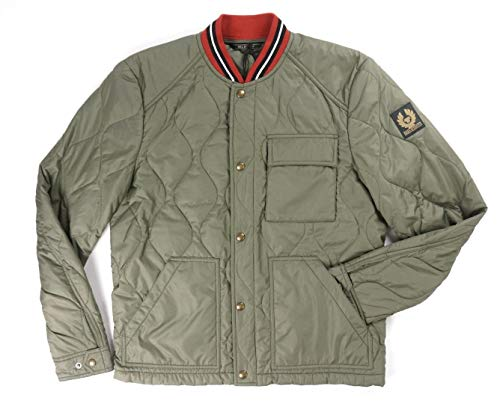 Belstaff New $595 Slate Green Quilted Haverford Bomber Jacket Size 48