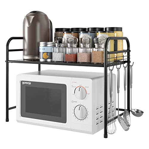 supporto microonde Homfa Scaffale da Cucina Supporto per Microonde Mensola Armadio da Cucina