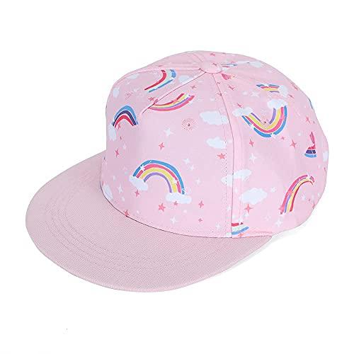 MASOCIO Cap Kinder Mädchen Baseball Kappe Kleinkind Trucker Caps Snapback Basecap Cappy Hut Alter 2-4 Jahre Rosa