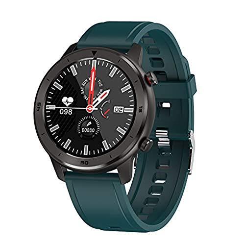 Relógio Inteligente Masculino QETU DT78 1,3 polegada Tela de Toque Redonda Total Batimento de Coração Pressão Sanguínea Monitor de Oxigênio Smartwatch, F