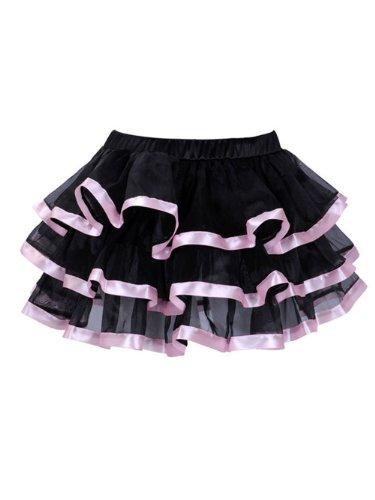 Deargirl Sexy Mini Tutu Ballet Multi-layer Ruffle Frilly Bridal Petticoat Skirt (L/XL, Pink)