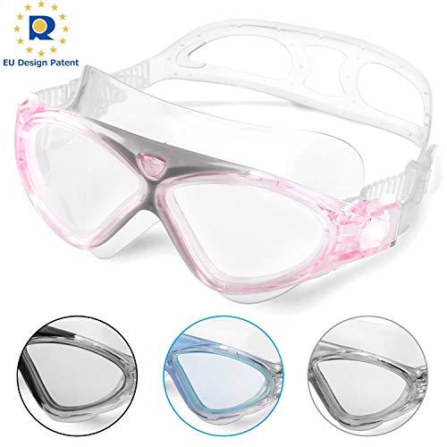 Swimming Goggles,Adult Swim Goggles Anti Fog No Leakage Clear Vision UV...