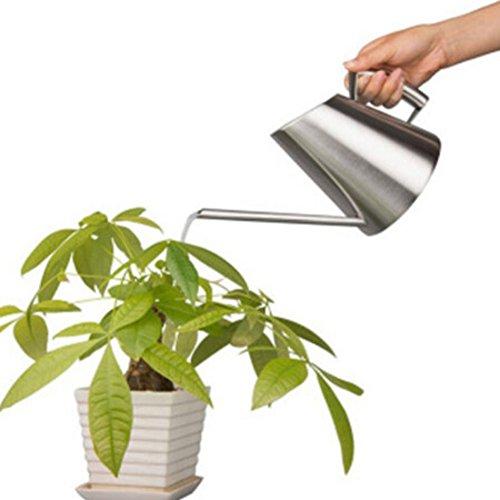 épaisse en acier inoxydable brossé Arrosoir Jardin Plante Pot de fleurs 400 ml