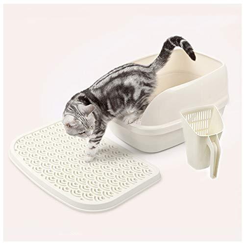LJJ Katzentoilette Geschlossenes Katzenstreubecken Geruchsfrei Mit Jumbo Streuschaufel Mit Einstieg Von Oben FüR GroßE Katzenrassen