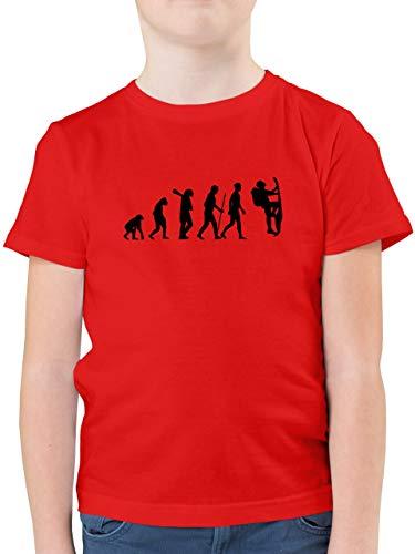 Evolution Kind - Klettern Evolution - 140 (9/11 Jahre) - Rot - F130K - Kinder Tshirts und T-Shirt für Jungen
