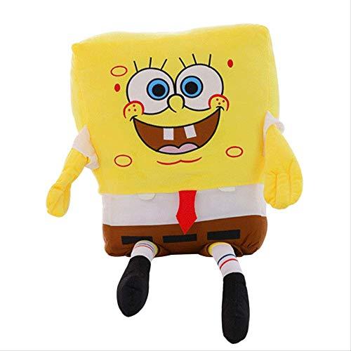Ylout Sponge Bob Plüschtier 40Cm,Gefüllte Weiche Anime Cosplay Puppe,Kinder Baby Spielzeug Cartoon Figur Plüsch Kissen Kissen Geburtstagsgeschenk