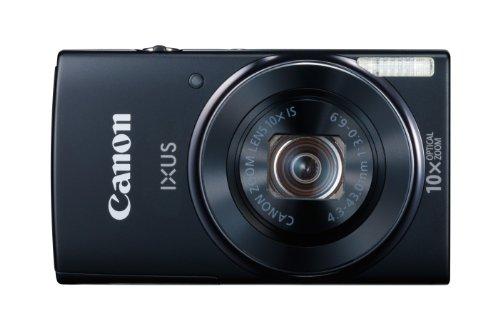 Canon IXUS 155 Digitalkamera (20 MP, 10-Fach Opt. Zoom, 6,8cm (2,6 Zoll) LCD-Display, HD-Ready) schwarz