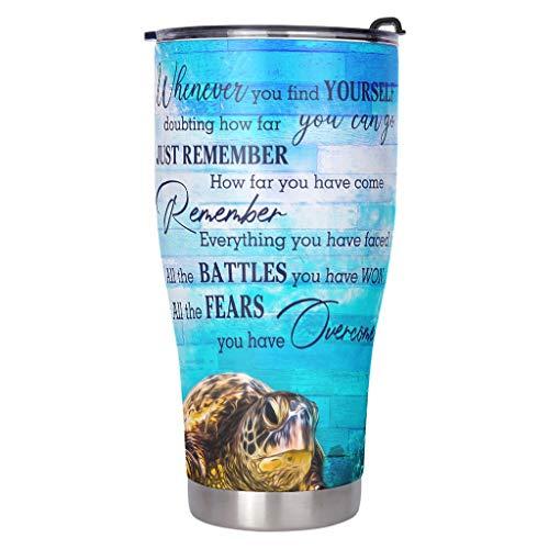 Ktewqmp Botella de agua de acero inoxidable para mujer, 900 ml, color blanco