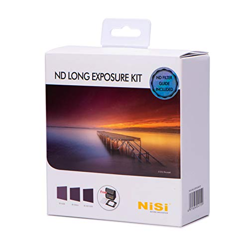 NiSi 100x100mm Neutral Density Long Exposure Filter Kit includes ND 0.9 (3-Stop) Filter, ND 1.8...