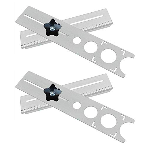 Herramientas de carpintería La fijación de acero inoxidable universal ajustable del azulejo Localizador Perforadora Tapper para casa (Size : 2mm)