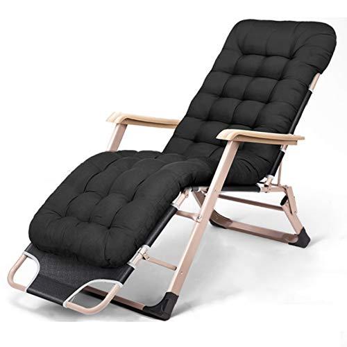 AWJ Sun Lounger Chair Zero Gravity Liegestuhl mit Kissen Indoor Liegestühle Verstellbare Gartenlehne mit Verstellbarer Rückenlehne