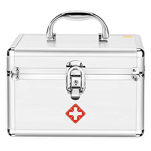 Shounadai medicijnbox, aluminiumlegering, licht en eenvoudig te dragen op schouder, vuur en vocht, familiebox, opbergdoos voor thuis, medische EHBO-doos.
