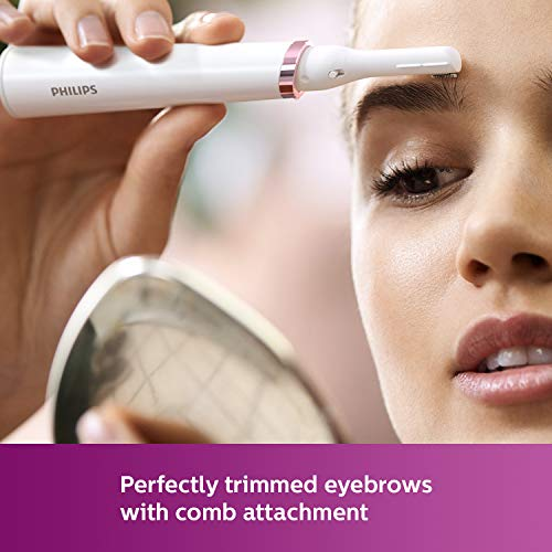 Philips Touch-up HP6388 Eyebrows, Facial & Body Trimmer(White)