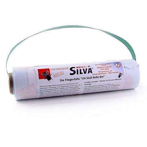 Silva - UV-Stall Rolle 6 m x 20 cm - Fliegenfalle für Agrar- und Landwirtschaft